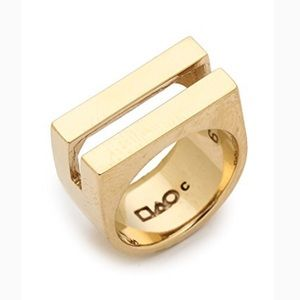 Campbell gold Coin Slot statement modern Ring 7